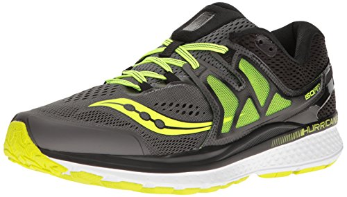 Saucony Men's Hurricane ISO 3 Running Shoe, Grey/Black, 11 W US
