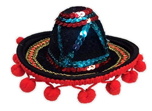 Mini Multi-Colored Sombrero Mexican Hat Headband Hot Tamale Costume Accessory]()