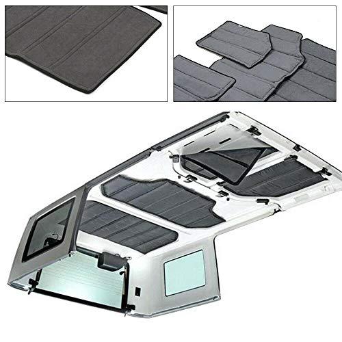 (Senderpick Sound Deadener Heat Insulation Kit Cotton Pad Hardtop Headliner Roof and Rear Window Insulation for Jeep Wrangler 11-16)