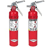 Amerex B417, 2.5lb ABC Dry Chemical Class A B C Fire Extinguisher, with Wall Bracket (2, 5.25 pounds)