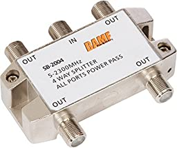 BAMF 4-Way Coax Cable Splitter Bi-Directional MoCA 5-2300MHz