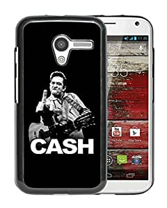 Fashionable Custom Designed Cover Case For Motorola Moto X With Johnny Cash Black Phone Case