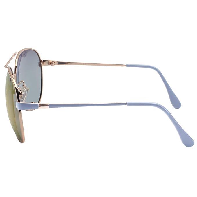 Vivienfang - Gafas de sol - para hombre Gold and Blue ...