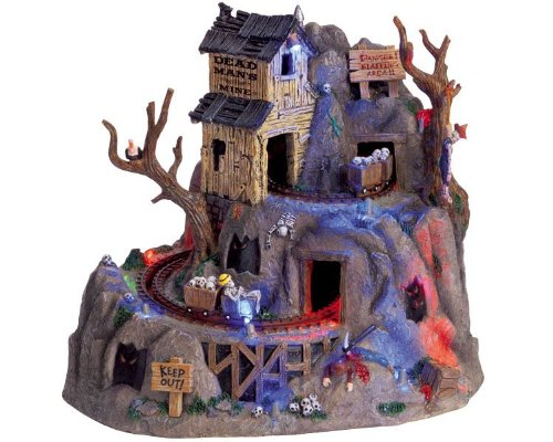 Lemax Spooky Town Dead Man's Mine with Adaptor # 64424 -
