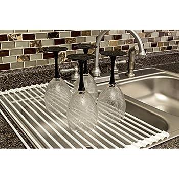 toptiergoods dish drying rack best roll up dish rack multipurpose over the sink. Black Bedroom Furniture Sets. Home Design Ideas