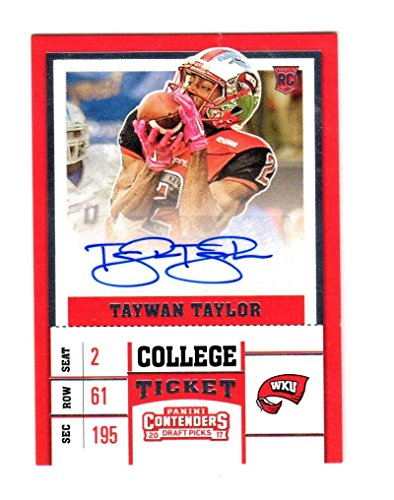 2017 Panini Contenders College Ticket Taywan Taylor #169 NM+ RC Rookie Auto