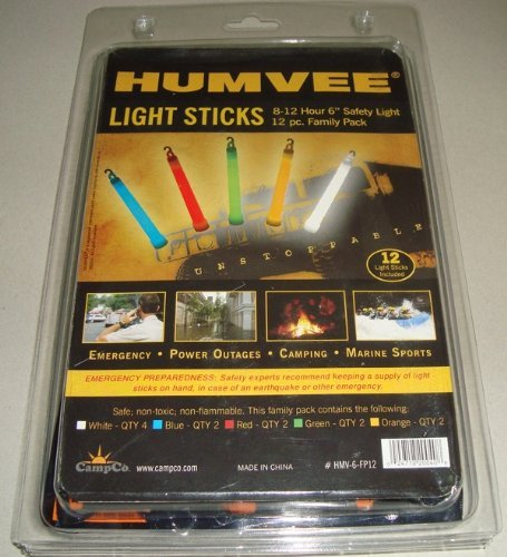 Humvee HMV-6-FP12 12-Piece Light Stick Pack by CampCo