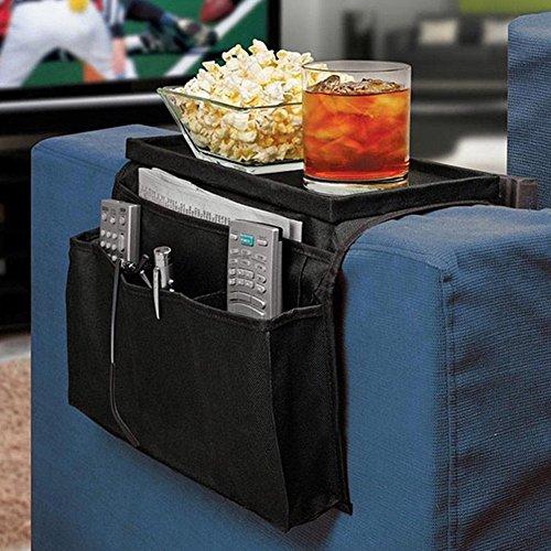 Waterfall Organizer Hutch (MIJORA-Bedside Sofa Table Cabinet Storage Organizer Pocket Oxford Cloth Book Phone Bag)