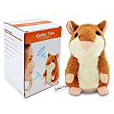 Toys : Color You Talking Hamster Repeats What You Say Electronic Pet Talking Plush Toy Buddy Mouse for Kids, 3 x 5.7 inches, Batteries Not Included