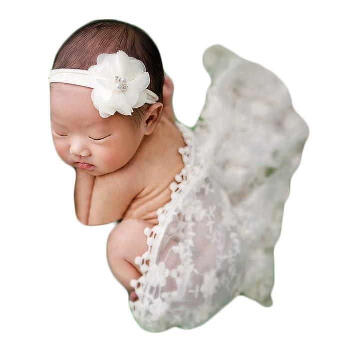 Bebé accesorios de fotografía de encaje envoltura recién ...