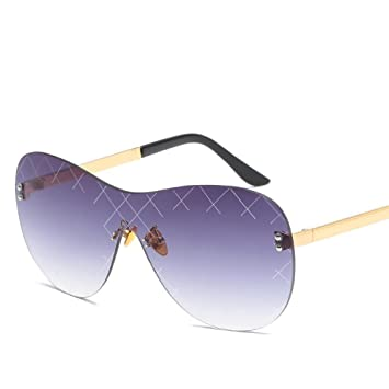 9e2d42542a99f2 BiuTeFang Metall ohne Rahmen siamesische Sonnenbrille Europa und den USA  Mode Farbe Herren Sonnenbrillen Damen Trend