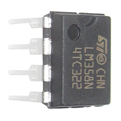 Amplificador operacional doble - SODIAL(R)20 Piezas LM358 LM358N LM358P Amplificador operacional doble de Op-Amp DIP8: Amazon.es: Bricolaje y herramientas