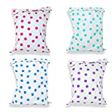 100 Pack 12x15 Poly Mailers, All Color Combo Pink, Purple, Teal, Blue Polka Dot Designer Mailers, 2.5 Mil Thick Plastic Mailing Bags, 12x15.5'' (Usable) Peal and Seal, Waterproof, Lightweight Packaging