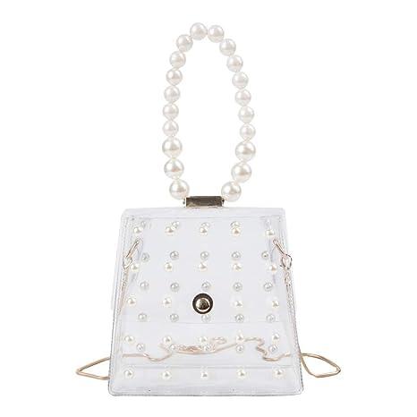 0cc04066ae98 Amazon.com: Sameno Clear Bag ✿ Pearl Transparent Crossbody Shoulder ...
