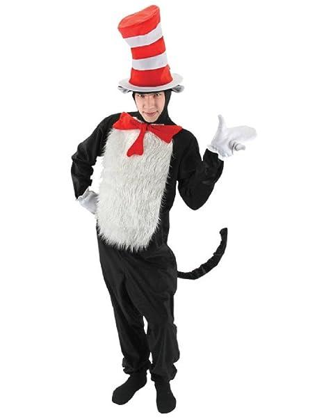 Amazon.com: Deluxe Dr. Seuss Gato en el sombrero Disfraz de ...