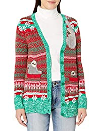 Blizzard Bay Womens Sloth Cardigan Ugly Christmas Sweater Sweater