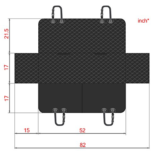 Dog Car Seat Covers Set - Pet Seat Covers Set - Dog Car Seat Covers WaterProof - Heavy Duty Dog Seat Cover WaterProof - Dog Car Seat Covers Heavy Duty - Vehicle Seat Covers for Dogs - HAMMOCK black by FG [FamilyGroup] (Image #8)