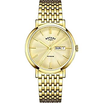 rotary mens gold plated gold dial gb05303 03 amazon co uk watches rotary mens gold plated gold dial gb05303 03