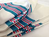 6 NEW INFANT RECEIVING SWADDLING HOSPITAL BLANKETS STRIPED medical purpose