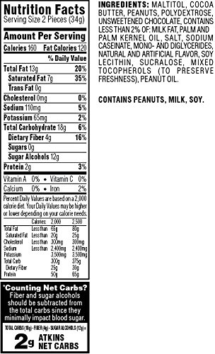 Atkins Endulge Treat, Peanut Butter Cups, Keto Friendly, 60 Count (Value Pack) by Atkins (Image #3)