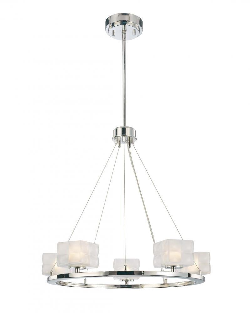 George kovacs p1455 613 squared 5 light chandelier polished george kovacs p1455 613 squared 5 light chandelier polished nickel amazon arubaitofo Images