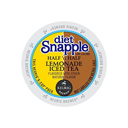 Diet Snapple Half'n Half Lemonade Iced Tea Keurig K-Cups, 22 Count