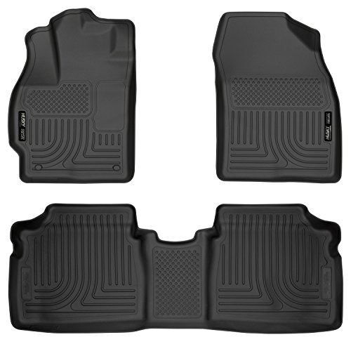 Husky Liners Front & 2nd Seat Floor Liners Fits 12-15 Prius Two/Three/Four/Five (Toyota Prius 1 2 3 4 5)
