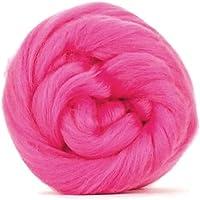 Rosa di lana merino–50gm. Grande per feltro bagnato/ago feltro, e filatura progetti.