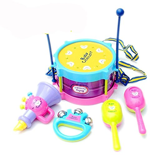 5 Pcs Baby Musical Instruments Toy Children Music Cartoon Toy Gift - 2
