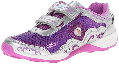 Stride Rite Baby Girl's Disney« Wish Lights Anna & Elsa H&L (Toddler) Magenta/Silver Sneaker 7.5 Toddler M