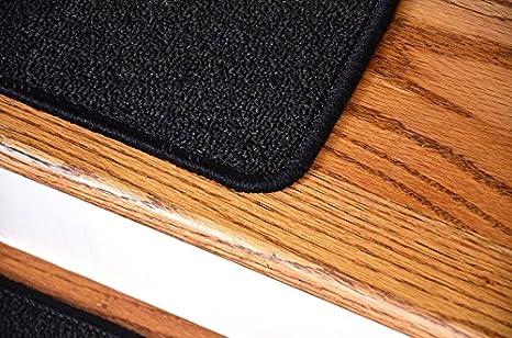 Dean Serged Diy Carpet Stair Treads 27 X 9 Midnight Black Set Of 13