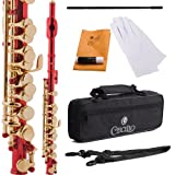 Cecilio PO-200RL Key of C Piccolo with Gold Keys - Red