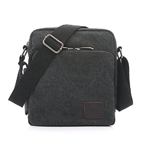 5048957ff0d7 Messenger Shoulder Purse Bag Canvas Multifunctional Mens Womens Crossbody  Handbag Travel Purse Change Packet Lots Pockets