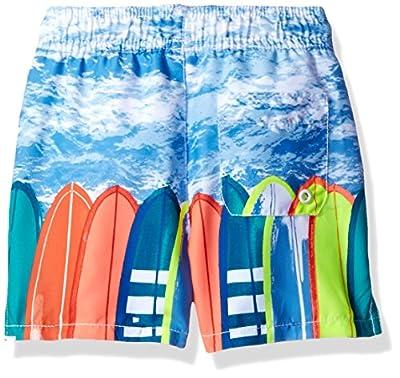 The Children's Place Baby-Boys' Li'l Guy's Printed Trunks Swim Shorts