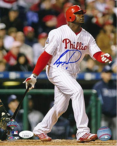 (Ryan Howard Phillies 2008 WS Signed/Autographed 8x10 Photo JSA 144605)