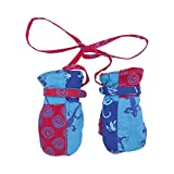 Shu-Shi Baby Toddler Boy Mittens Soft Warm Fleece Interior and String Attached