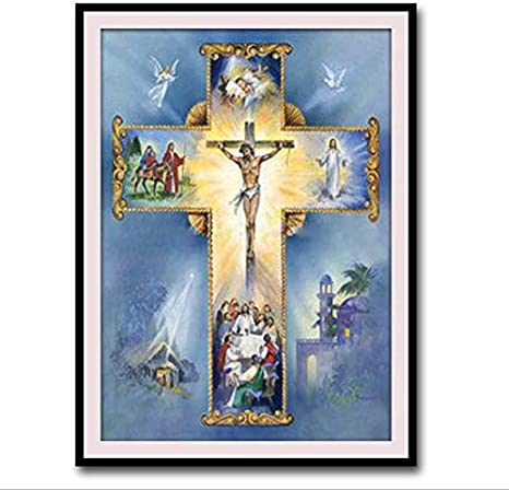DIY 5D Religious Diamond Embroidery Painting Cross Stitch for Home Ornament