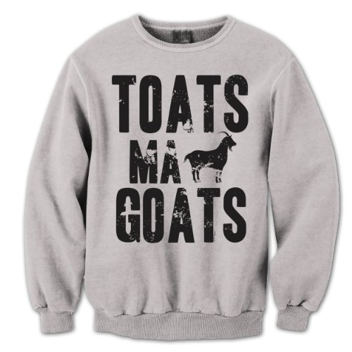 Toats MA Goats Funny Movie Party Saying Hilarious Animal Mens Sweatshirt Small - Ma Outlet