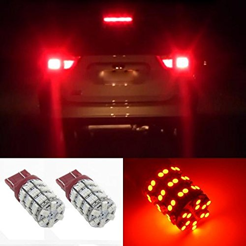 Partsam 7443 7440 Tail Stop Brake Light Led Rear Turn Signal Light Bulbs Red 7440A 7505 992 W21 T20 for Chevrolet Nissan GMC Honda One Pair