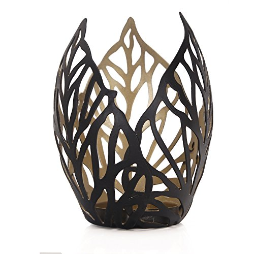 Home's Art 2017 New Romantic Arty 3-piece Leaf Style Metal Candle Holder, Perfect for the Bathroom or Bedroom