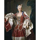 The Perfect effect canvas of oil painting 'Ranc Jean Isabel Farnesio reina de Espana 1723 ' ,size: 10 x 13 inch / 25 x 32 cm ,this Imitations Art DecorativeCanvas Prints is fit for Laundry Room decor and Home decoration and Gifts