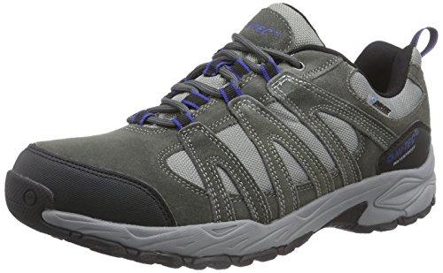 Hi-Tec Alto II Low WP - zapatillas de trekking y senderismo de cuero hombre gris - Grau (Charcoal/Cobalt 051)