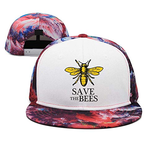 Aegatelate-Save The Bees Adults Buckle Strap Denim Snapback Hat Sports Operator Cap