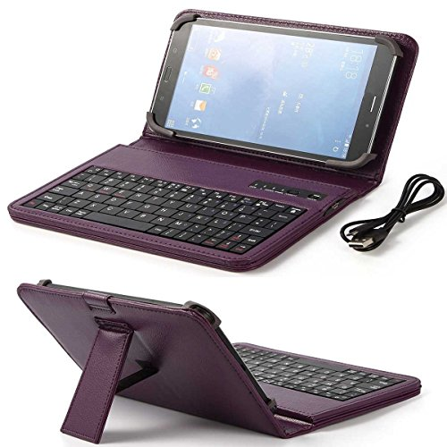 (ONLY 7 INCH) HP,Samsung,LG,RCA,Google,Nextbook,IRulu,Fire 2015 2016,Verizon,AT&T,Kindle ,Universal Android tablet Wireless Bluetooth keyboard case With Folio Leather Case Stand Cover - Mobile Deerbrook T