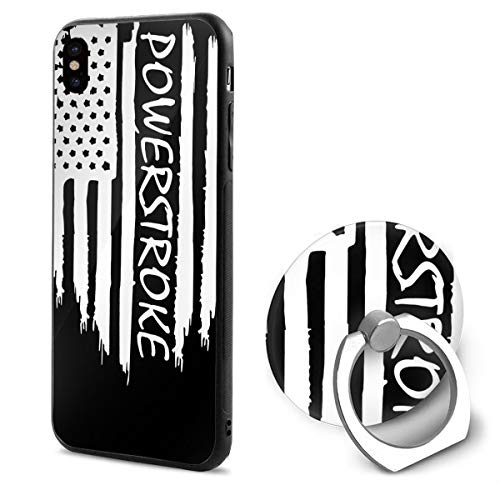 Kelelcq American Flag Powerstroke iPhone X Mobile Phone Shell Ring Bracket 5.8 Inth