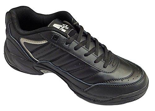 Negro Negro blanco Zapatillas Ascot y deporte de anchas Murray pxqqwPRO8