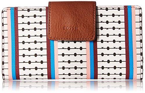 Fossil Emma Rfid Tab Wallet, Ecru Multi Stripe