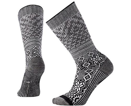 Smartwool Women's Snowflake Flurry Black - Smartwool Warmers Knee