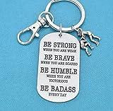 Keychain. Wrestling Charm. Wrestling Mom, Wrestling team gifts, Gift for Wrestler, Be Badass Every Day.