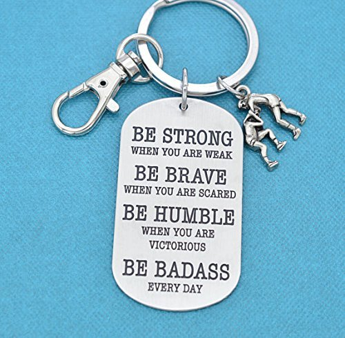 Keychain. Wrestling Charm. Wrestling Mom, Wrestling team gifts, Gift for Wrestler, Be Badass Every Day. by Mom & Three Sisters
